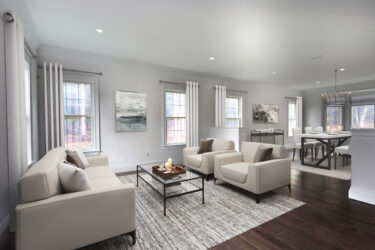 Photograph of Family Room at 25 Hedgerow Lane, Westwood MA