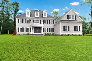 Photograph of Front Exterior at 25 Hedgerow Lane, Westwood MA