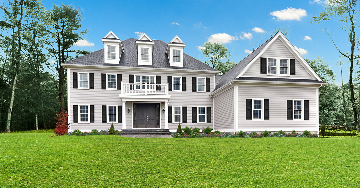 Front Exterior Photograph of 25 Hedgerow Lane, Westwood MA