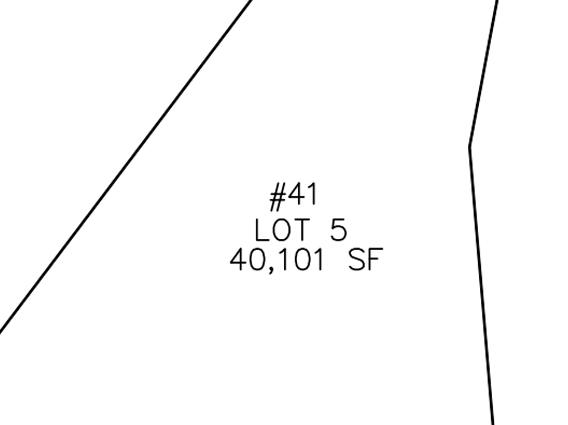 Plot Plan for 41 Hedgerow Lane, Westwood MA