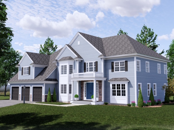 Front Exterior Photograph of 33 Hedgerow Lane, Westwood MA